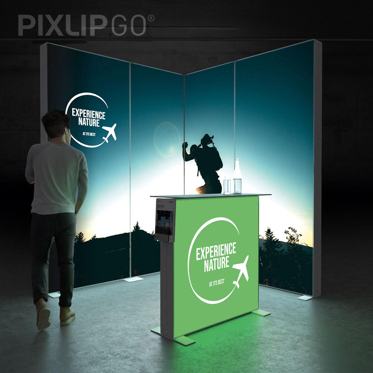 PIXLIP GO Eck-Messestand 2x2m