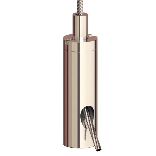 Drahtseilhalter Gripper 15 SE M5i; vernickelt, max. Seil Ø1,5mm