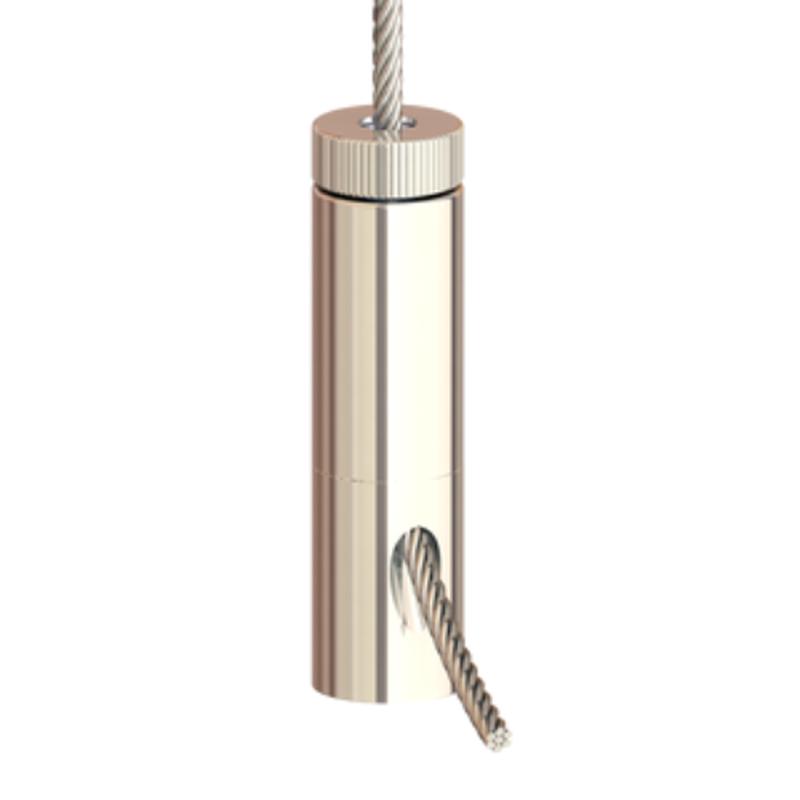 Drahtseilhalter Gripper 30 M8 Innengewinde; SE; vernickelt; max. Seil Ø3,0mm