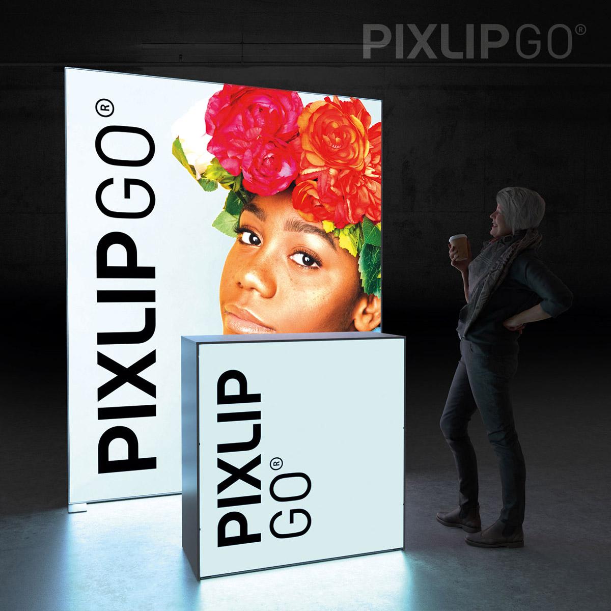 PIXLIP GO Kopf-Messestand 2x1,5m