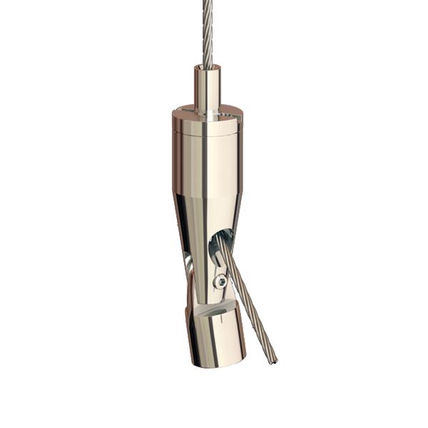 Drahtseilhalter Gripper 12 SE, Gelenkhalter, M4i max. Seil Ø1,2mm