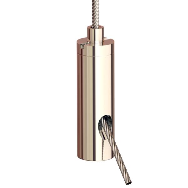 Drahtseilhalter Gripper 12; vernickelt max. Seil Ø1,2mm
