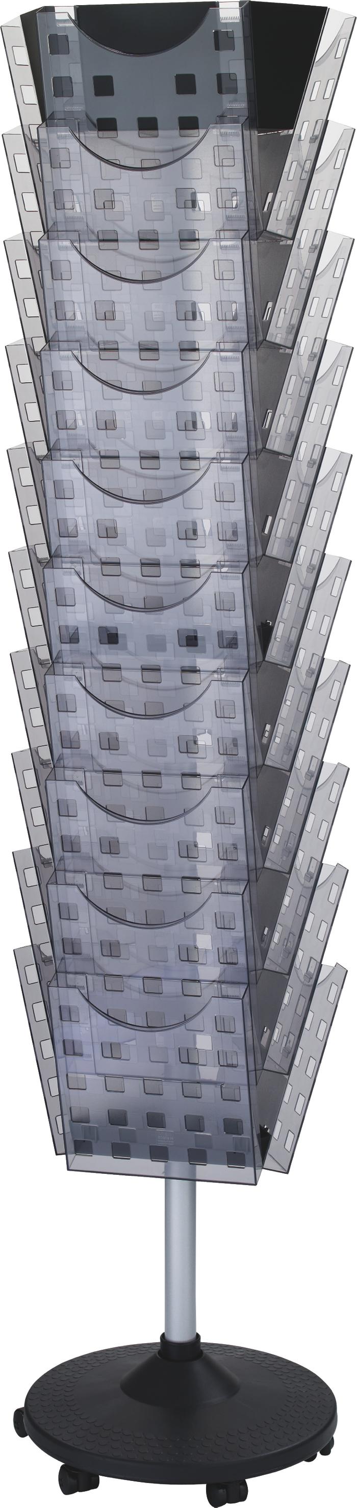 helit © Prospektbodenständer 30 Taschen drehbar 02
