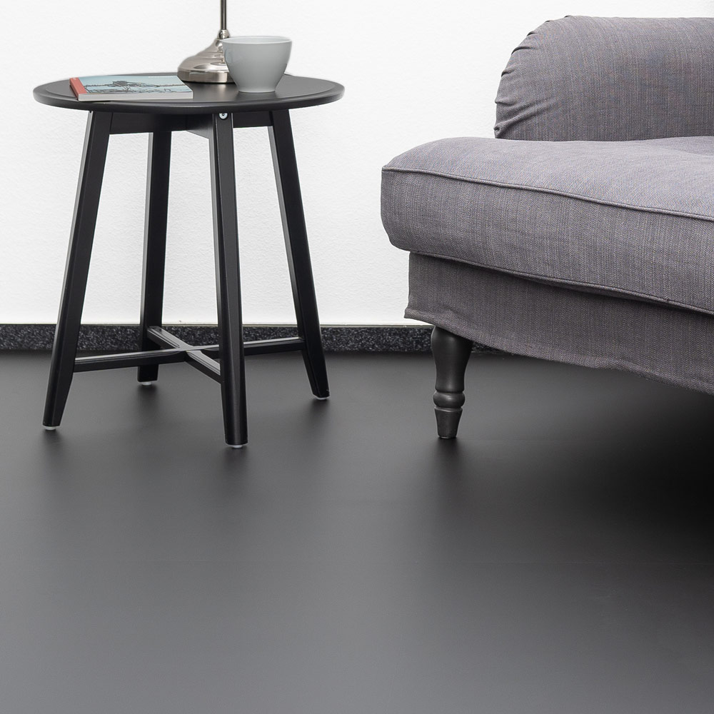 Laminat schwarz matt ohne Fuge - XL Format