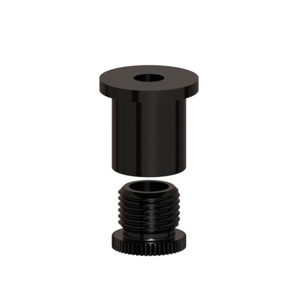 Befestigungsset M10x1 klein + Kappe schwarz