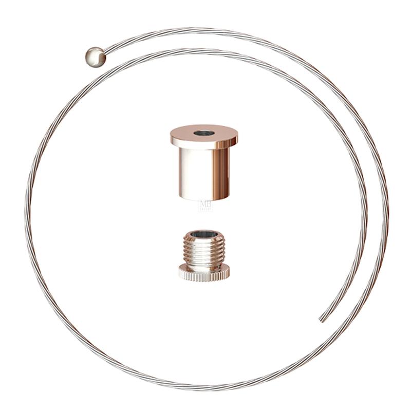 Abhängeset bestehend aus Deckenbefestiger, Drahtseil ø1,5mm, L=1500mm