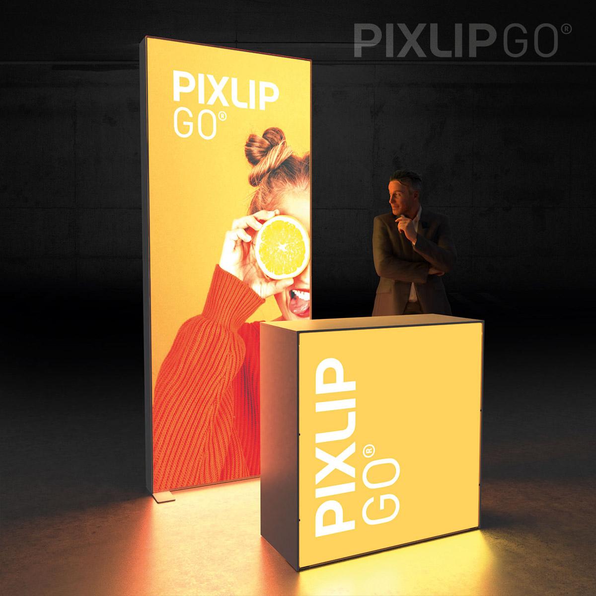 PIXLIP GO Kopf-Messestand 2x1m
