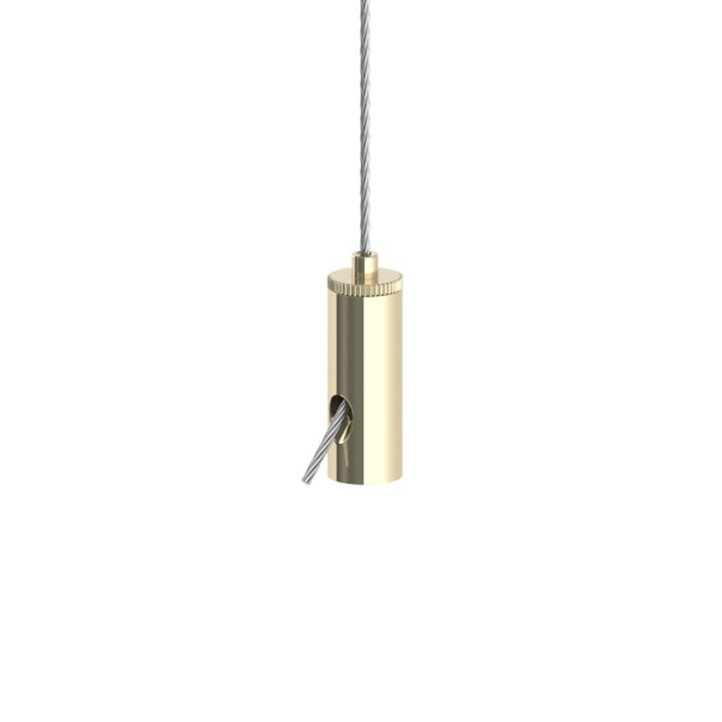 Drahtseilhalter Gripper 10 SE, M4 Innengewinde, Seil ø 0,8 - 1,0mm, vernickelt