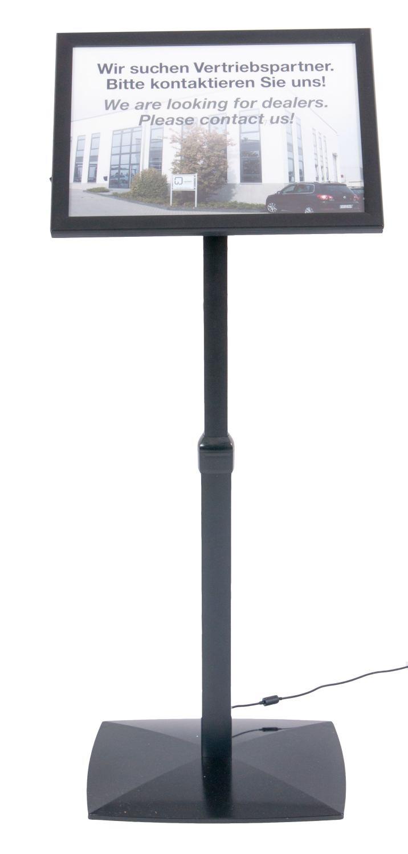 LED Infoständer höhenverstellbar