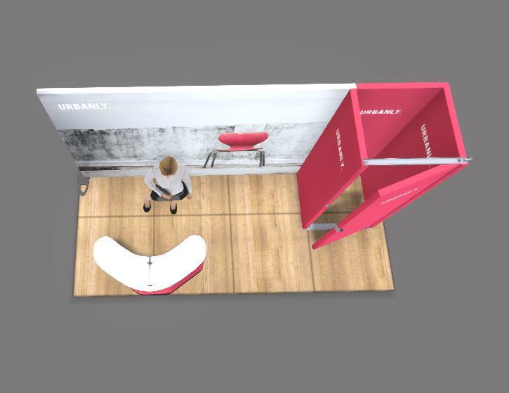 4x2m Expand System Reihenstand mit Lagerraum