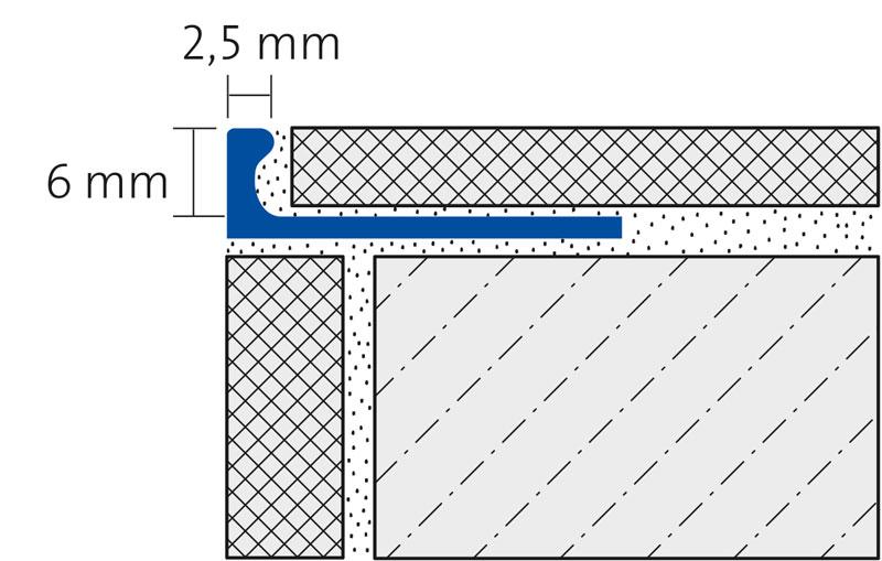 ALU FLEX-PROFIL 6mm biegbar, silber eloxiert, Länge 250cm
