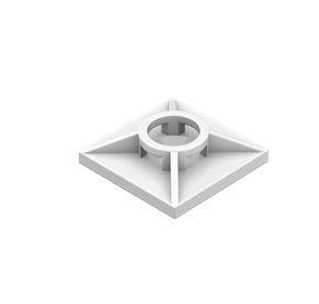 Octalumina Befestigungssockel für Kabelbinder, 100 Stück