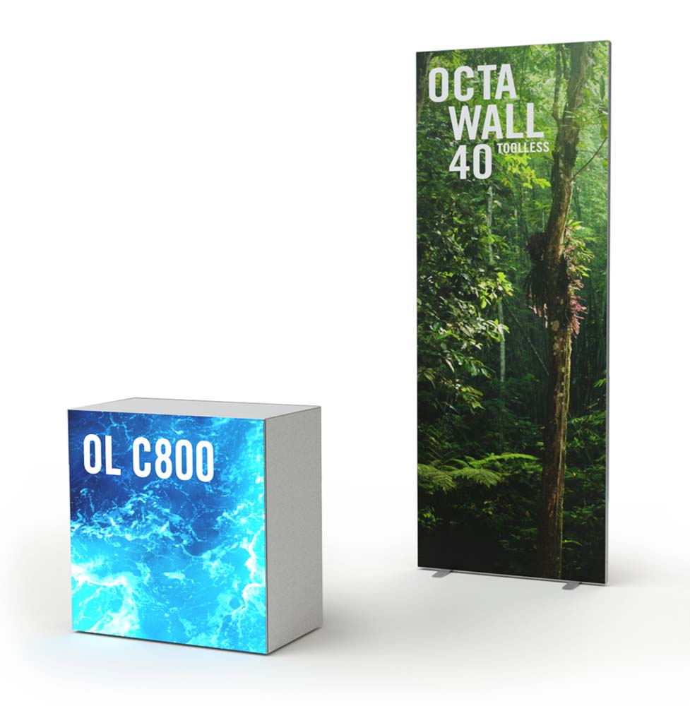 Octanorm Promotionstand 950 x 2480mm mit Counter