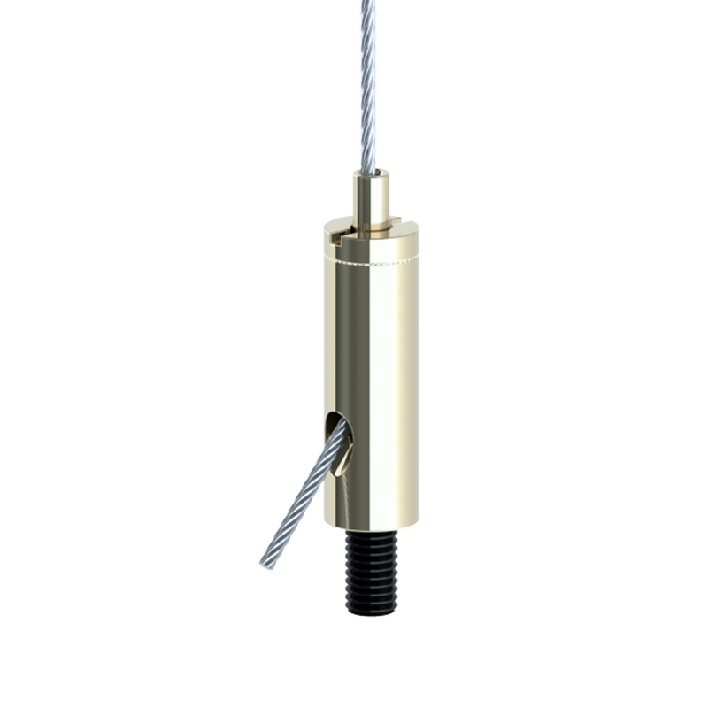 Drahtseilhalter Gripper 15 SE M6i; vernickelt mit 8mm Außengewinde