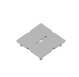 Abdeckplatte 89 x 89 x 19 mm