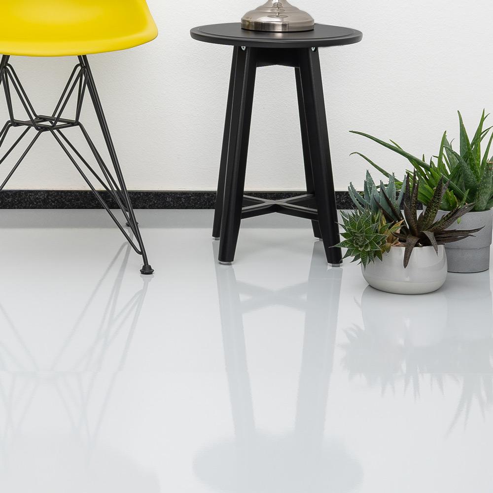 Laminat grau hochglanz ohne Fuge - XL Format