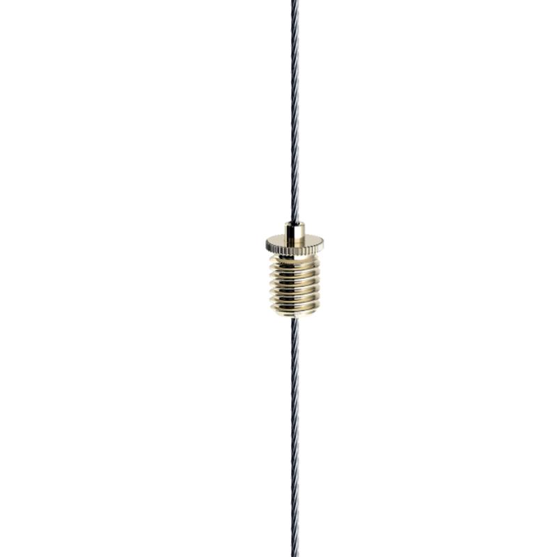 Drahtseilhalter Gripper 10, M6 Außengewinde, Seil ø 0,8 - 1,0mm, vernickelt