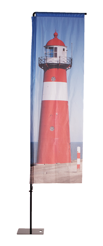 Beachflag Alu Square