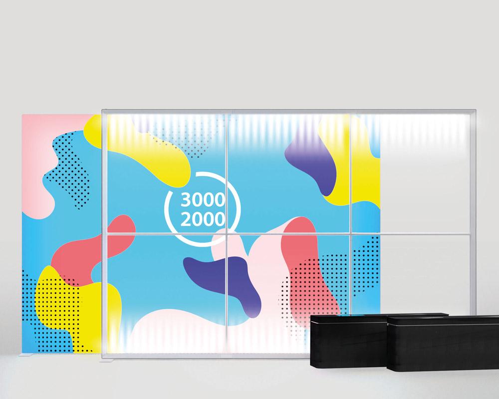 Pixlip Go Lightbox, Breite 300cm