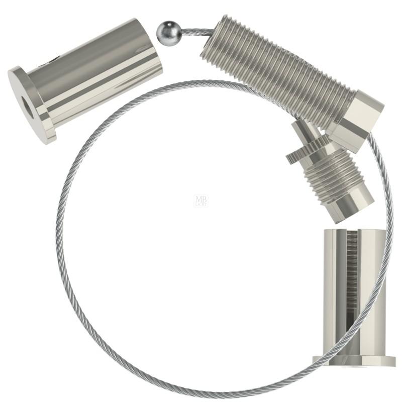Spannset, Drahtseil ø1,5mm, Gripper G-15-01 und Spannhülse M10x1, L=1500