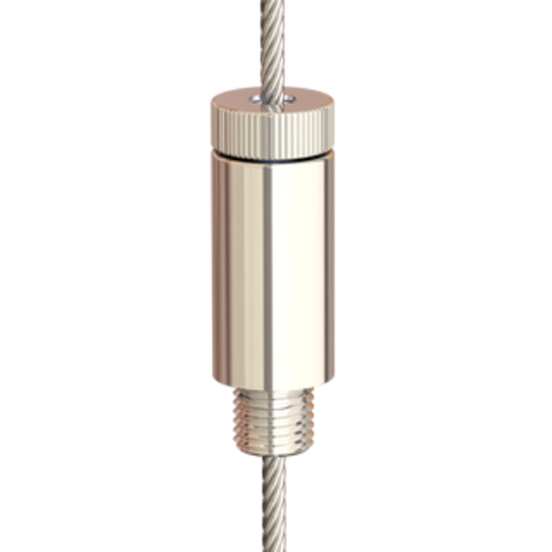 Drahtseilhalter Gripper 30 M8 Außengewinde; vernickelt; max. Seil Ø3,0mm