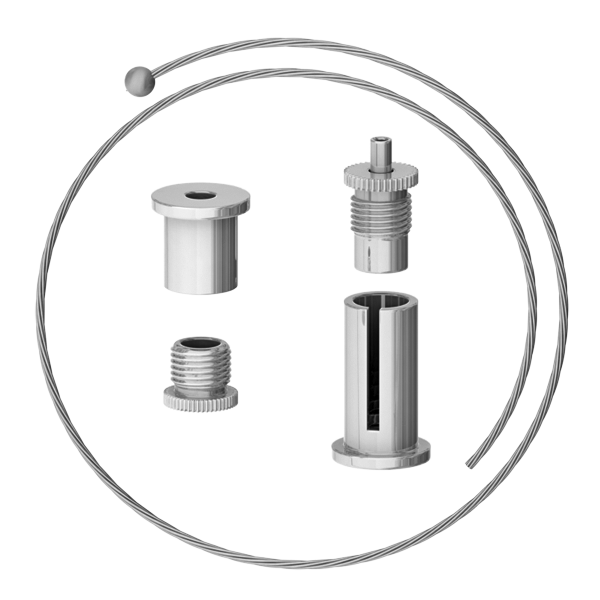 Universalabhängeset, Drahtseil 1,5mm stark, vernickelt