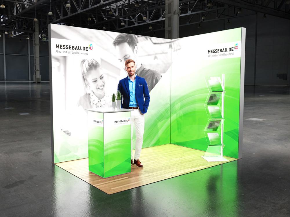 Octalumina LED Messestand 2x3m Eckstand