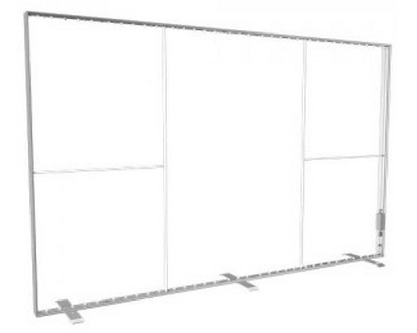 Leuchtwandelement 4000 x 2480 mm mit Fussplatten freistehend