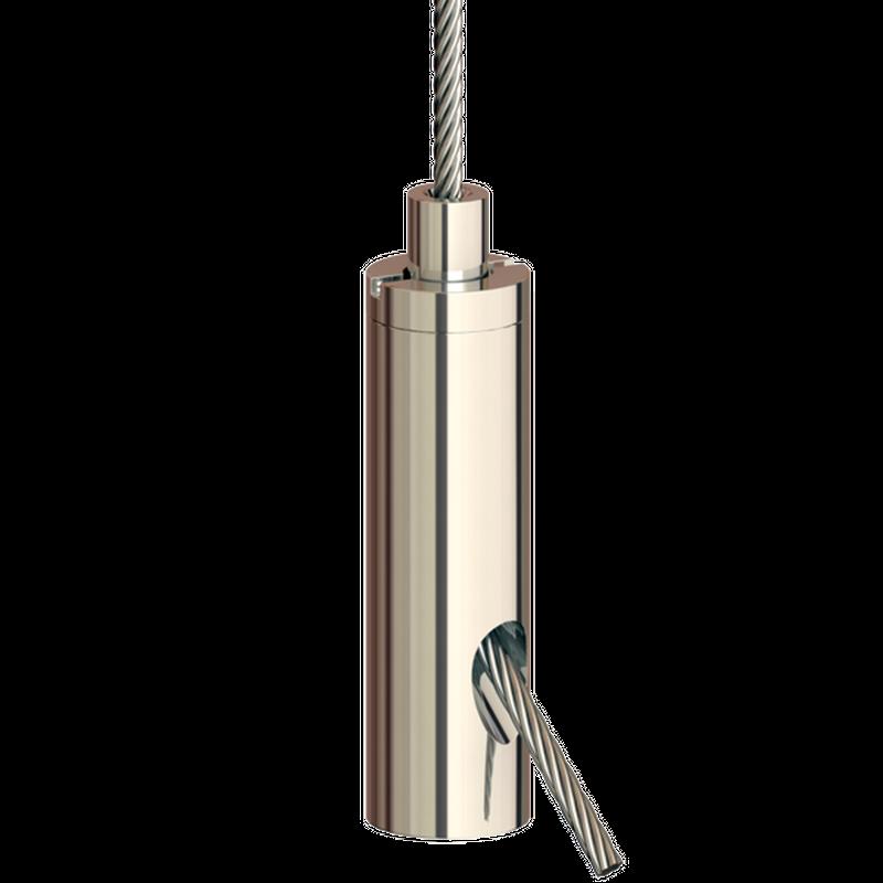 Drahtseilhalter Gripper 20 SE M5i; vernickelt; max. Seil Ø2,0mm