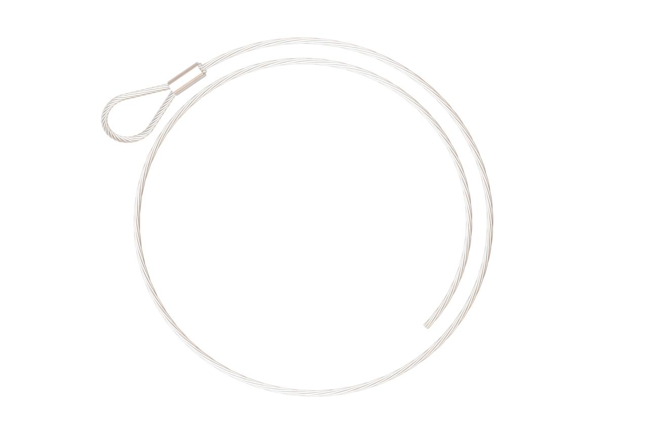 Drahtseil Ø1,2; 6x7+SE; 1960N/mm²; einseitig mit Schlaufe