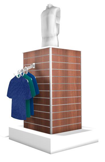 Mittelraummöbel 4-Eck Turm BxTxH 160x160x180cm