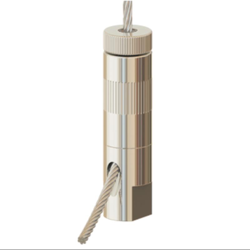 Drahtseilhalter Gripper 30; M8 Innengewinde; SE mit Schlüsselfläche, max. Seil Ø3,0mm