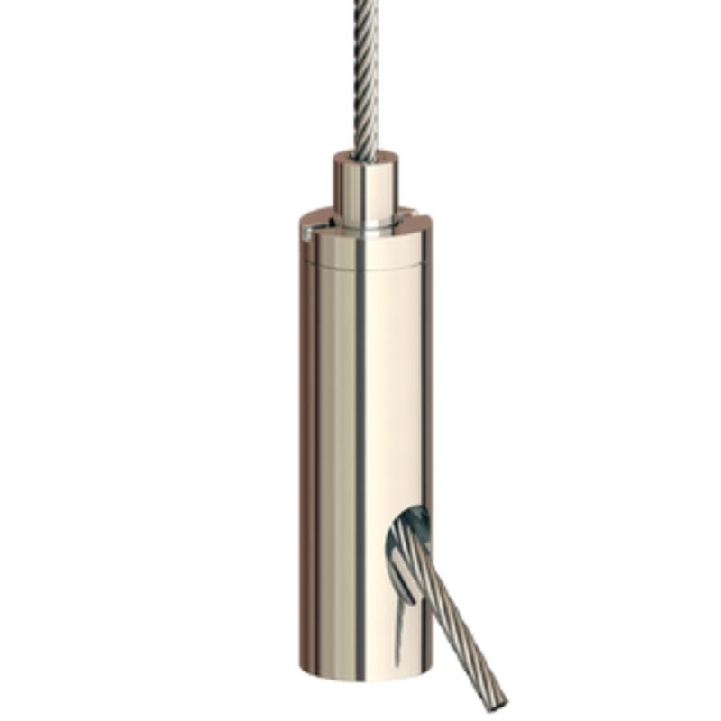 Drahtseilhalter Gripper 20 SE M8i; vernickelt; max. Seil Ø2,0mm