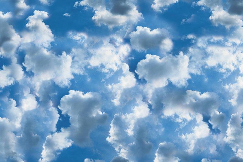 Messeteppich bedruckt Wolken
