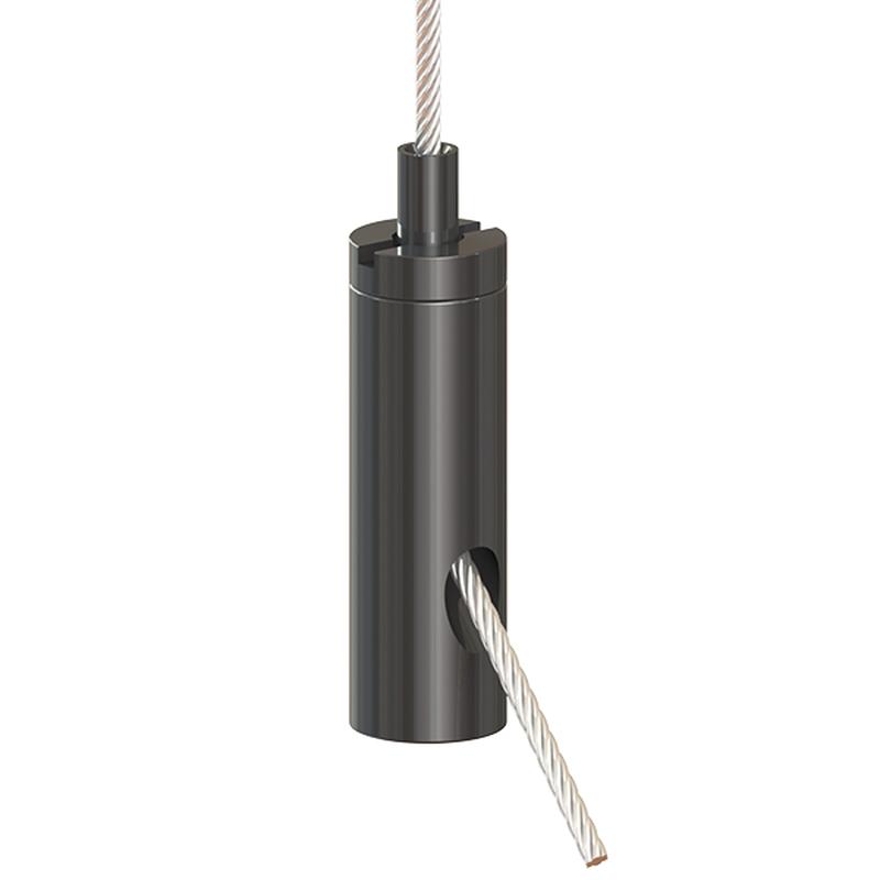 Drahtseilhalter Gripper 15 SE; M4i; schwarz beschichtet (ehemailg G-15-12s) max. Seil Ø1,5mm
