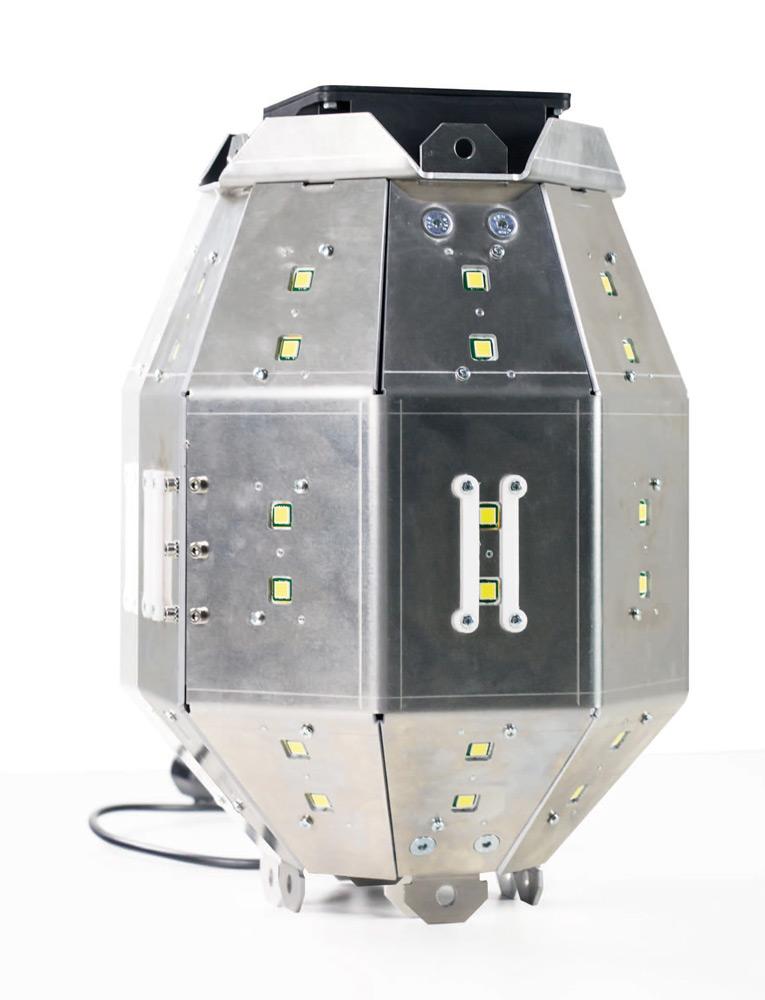 Kubuslampe Sputnik, 360° Ausleuchtung, 55.000 Lumen