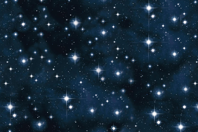 Messeteppich bedruckt Sternenhimmel