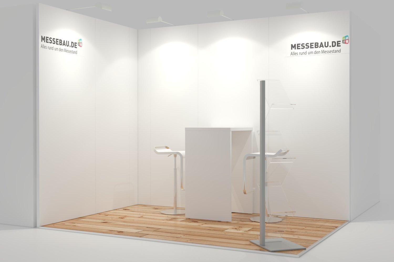 Leichtbau Messewand System 3x3m Eckstand ohne Kabine
