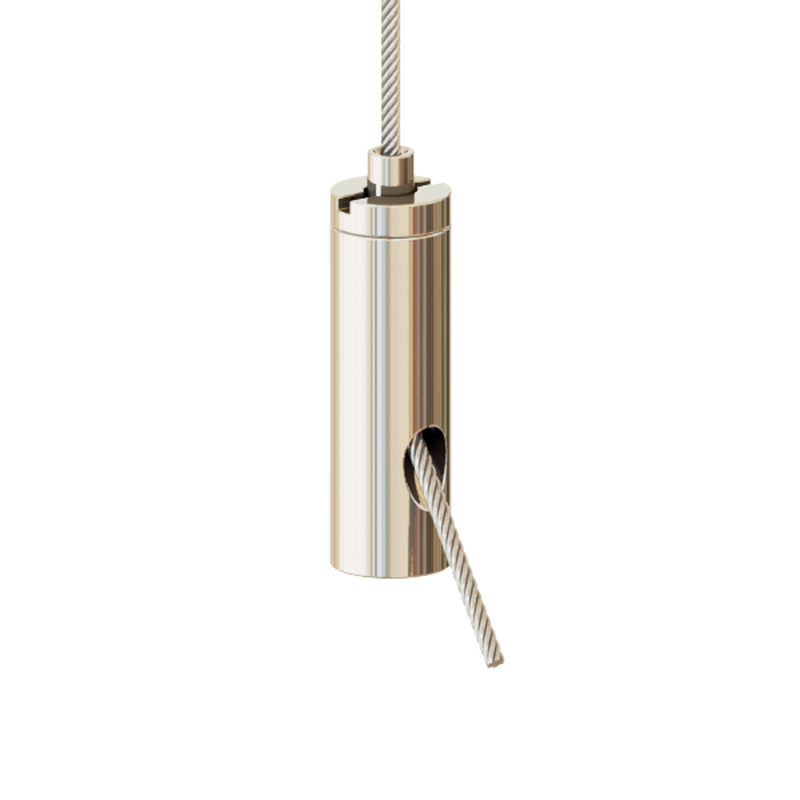 Drahtseilhalter Gripper 15 SE M6i; vernickelt; max. Seil Ø1,5mm