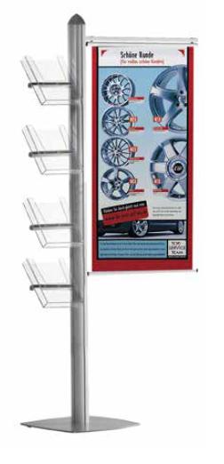 Prospektständer mit Banner Variation 70