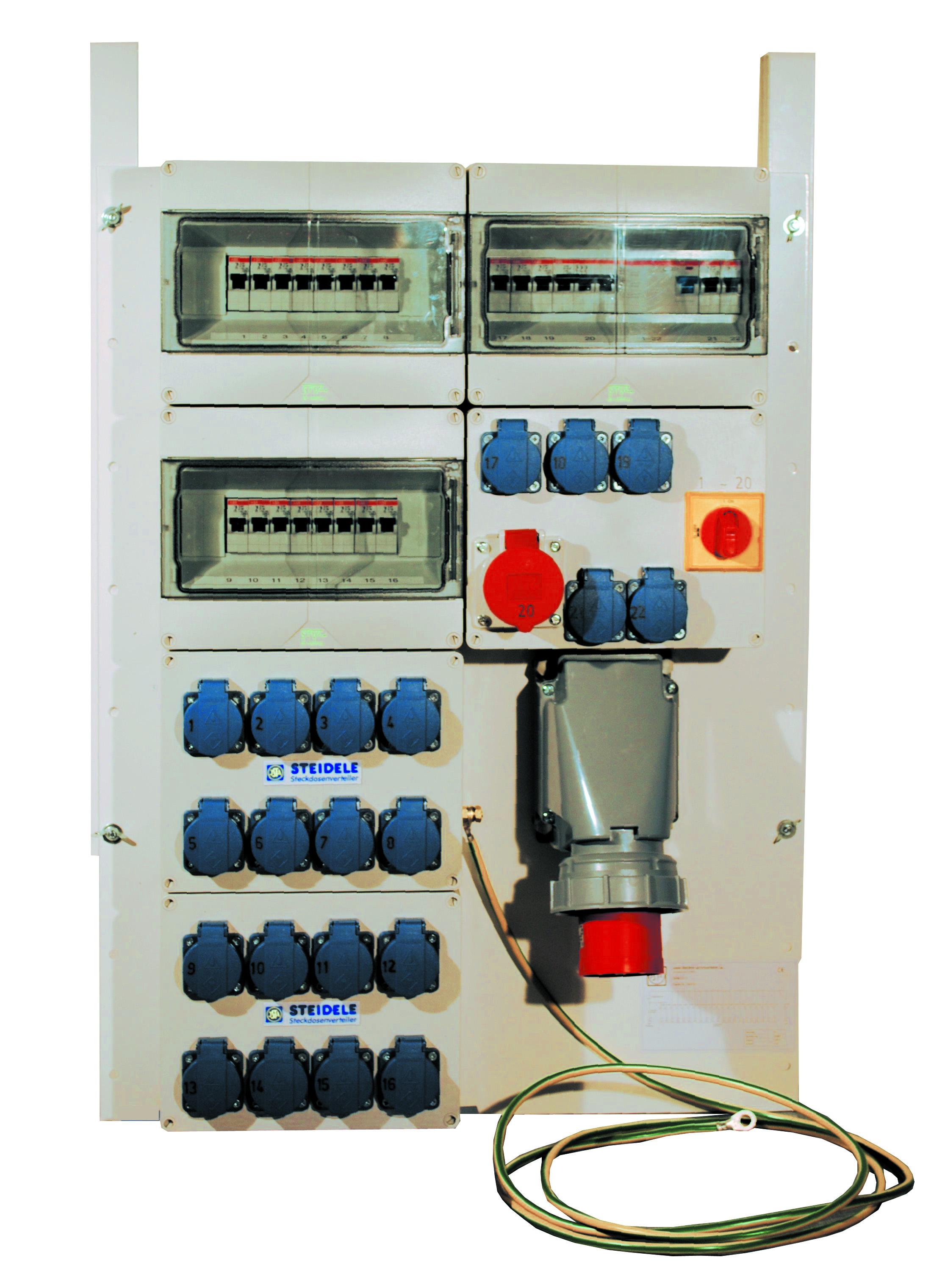 Messe Stromverteiler CEE 63 A inkl. Nachtstrom