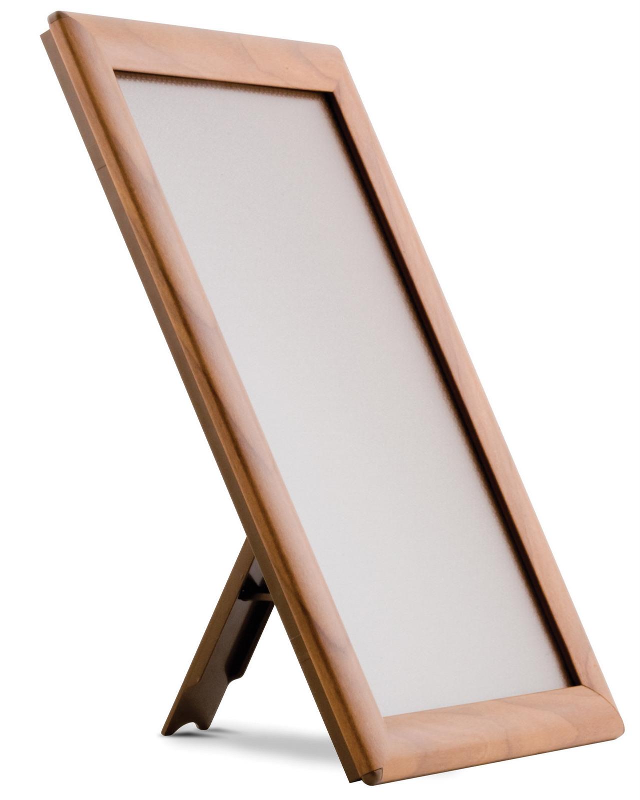 Plakatrahmen Holzoptik, 25 mm Profil