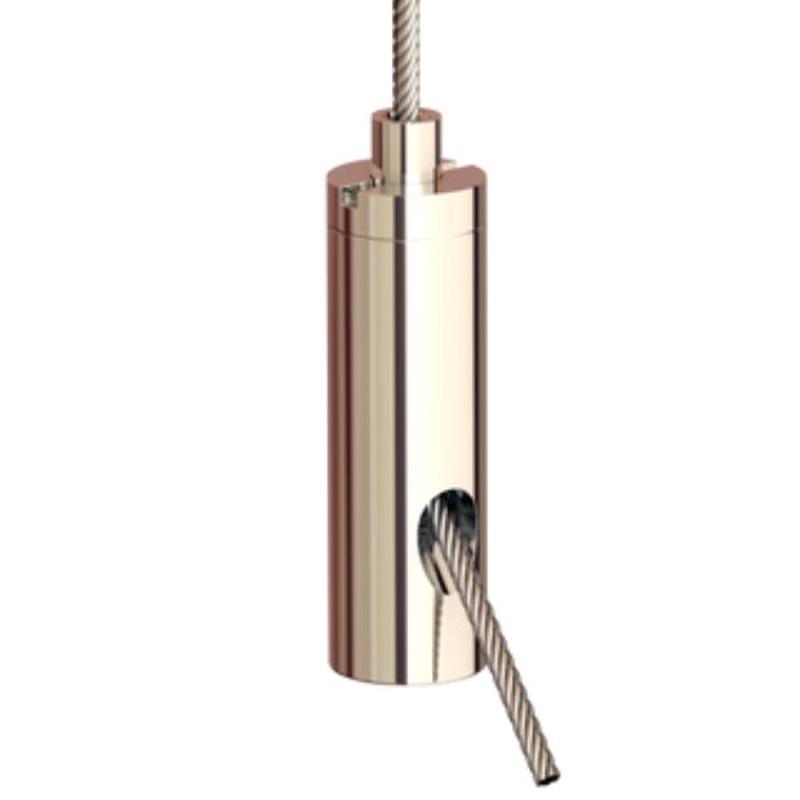 Drahtseilhalter Gripper 12 SE, M3i, vernickelt max. Seil Ø1,2mm