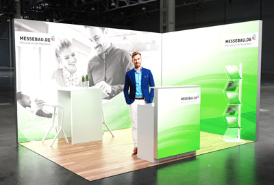 Messestand mit LED